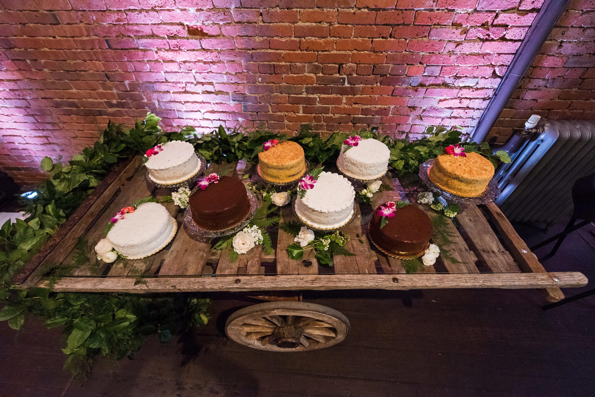 Wedding Cake Display on Cart.jpg