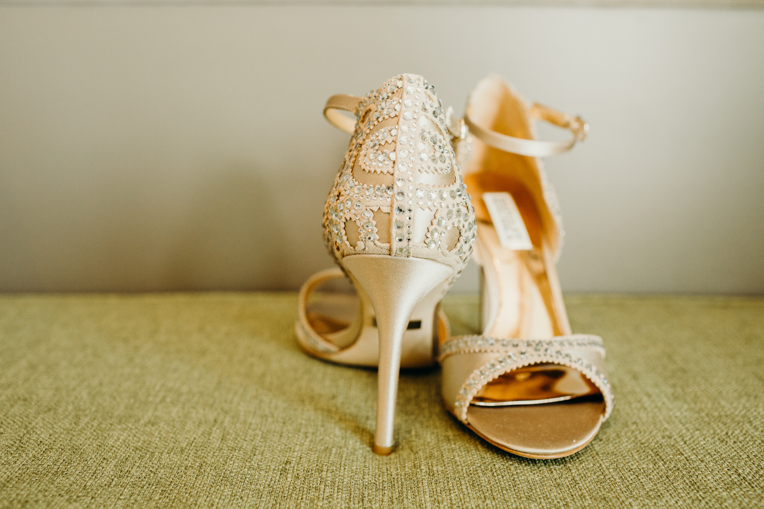 Gold and Sparkly Wedding Shoes