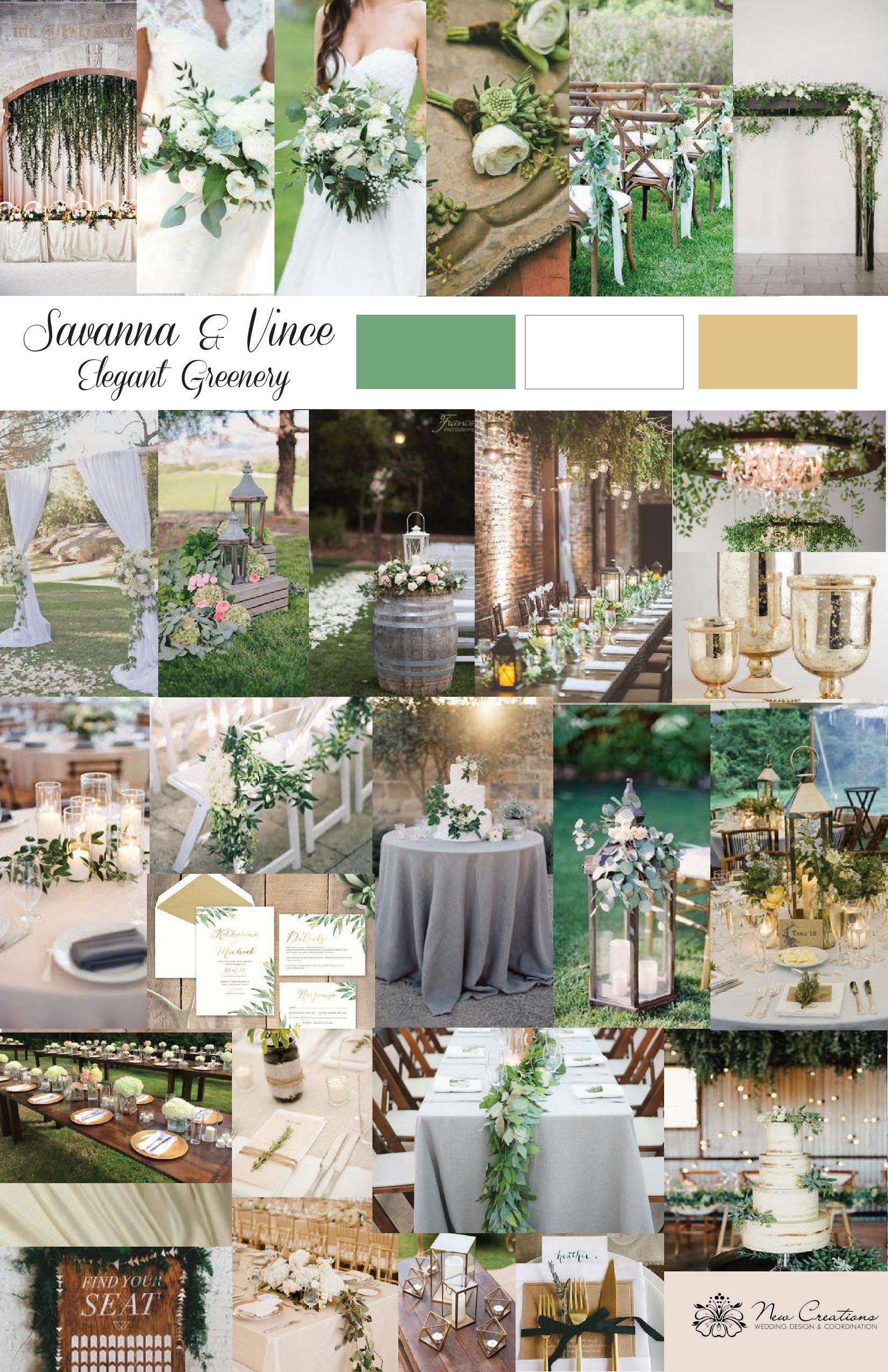 Summer Garden Inspiration Board Created by New Creations Weddings