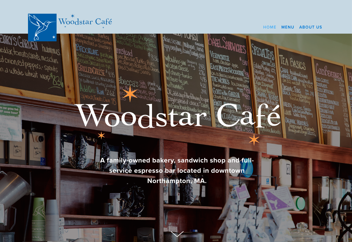 Woodstar Cafe - Coffee Shop / BakeryBuilt in Squarespace