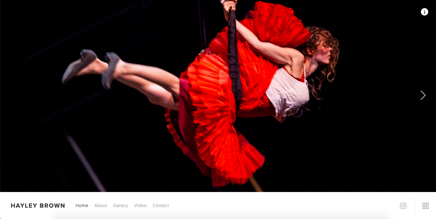 Hayley Brown - Aerial & Theater PerformerBuilt in Squarespace