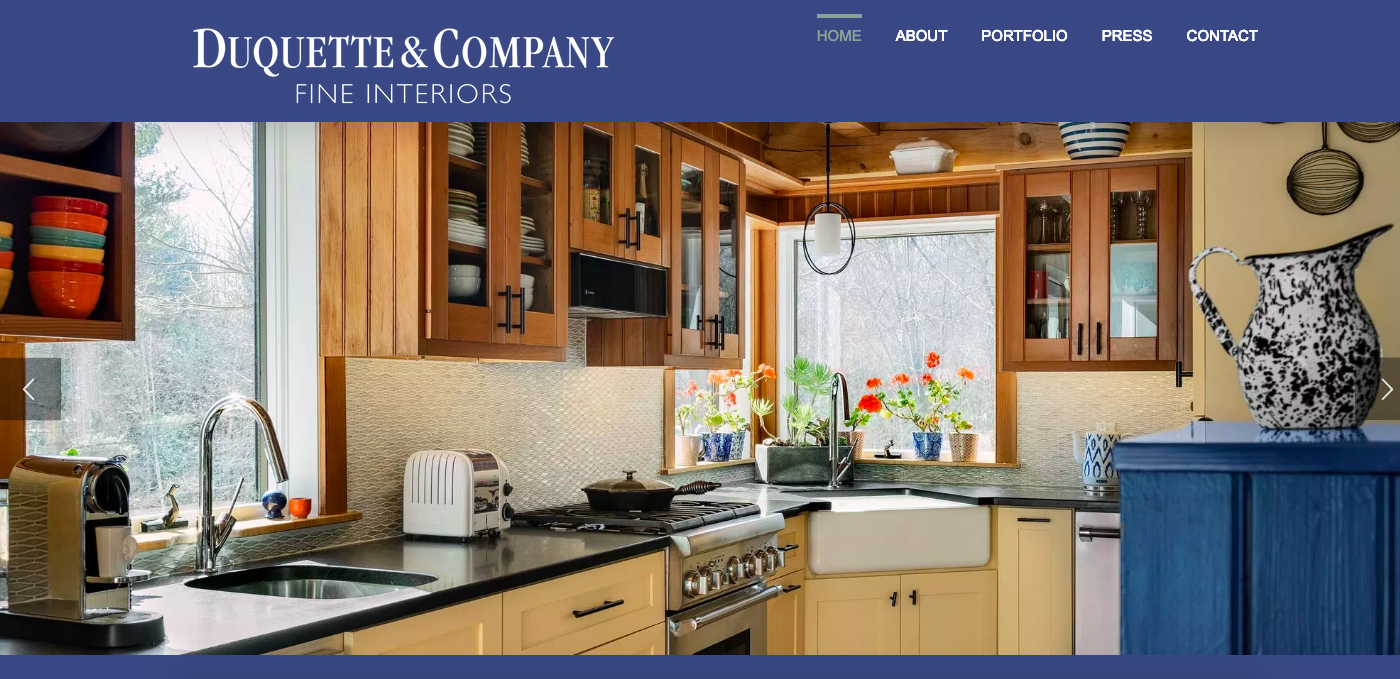 Duquette & Company, Inc. - Interior DesignBuilt in Wordpress
