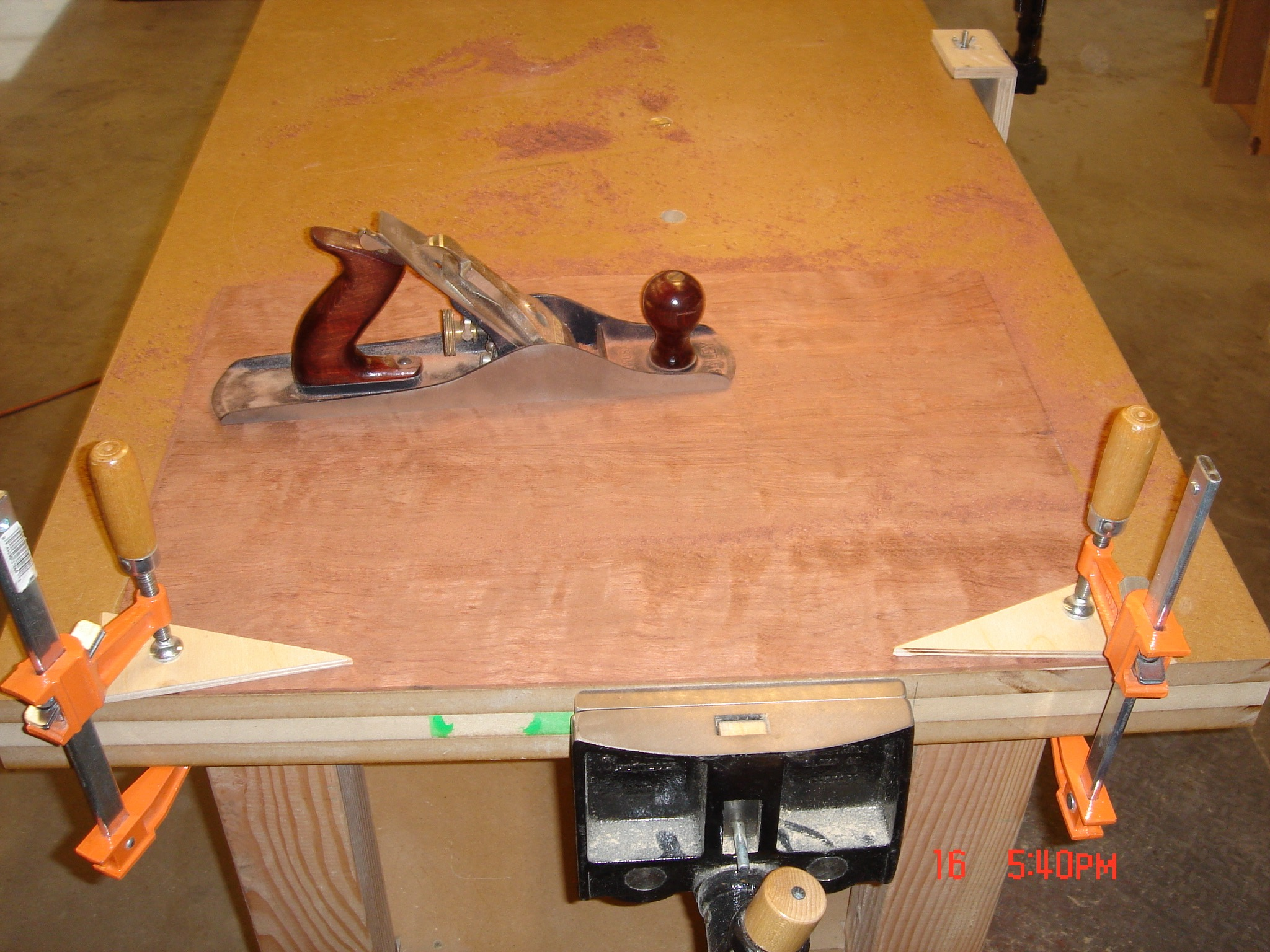 Thicknessing a Waterfall Bubinga back plate