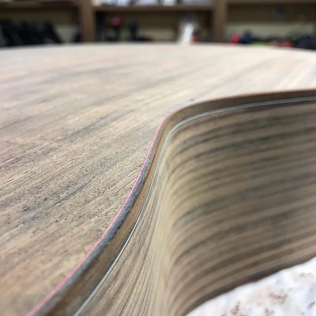 It's alive! Freshly sanded cocobolo dust... #luthier #guitar #acousticguitar #guitarmaking #cocobolo #wood #woodworking #art #madeintheusa #handmade