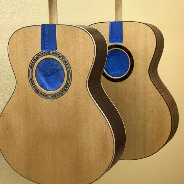 Finally in the finish stage. Probably the most rewarding aspect next to the first string-up. #luthier #guitar #acousticguitar #guitarmaker #handmade #art #handcrafted #wood #highendfinishes #almostthere