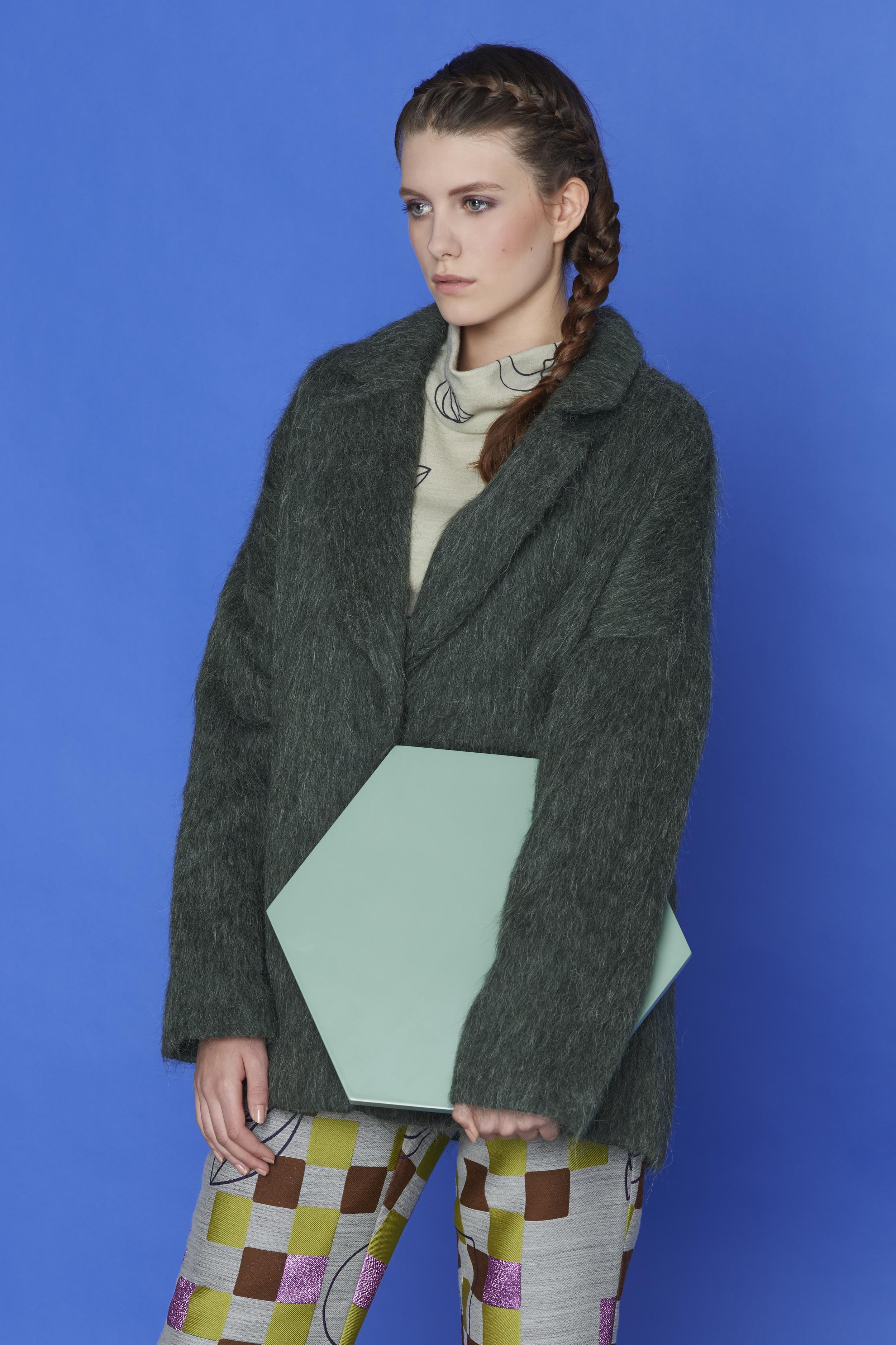 blouse, trousers ACEPHALA, coat KAROLINA SCIPNIAK