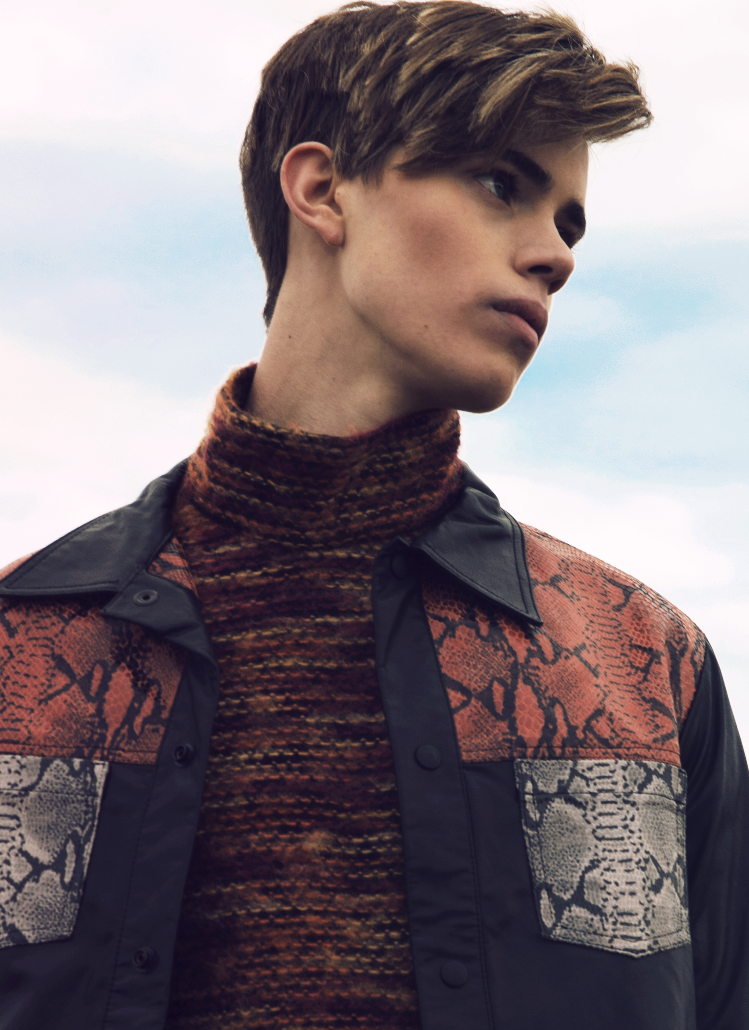 Turtleneck and leather jacket ANDREW COIMBRA