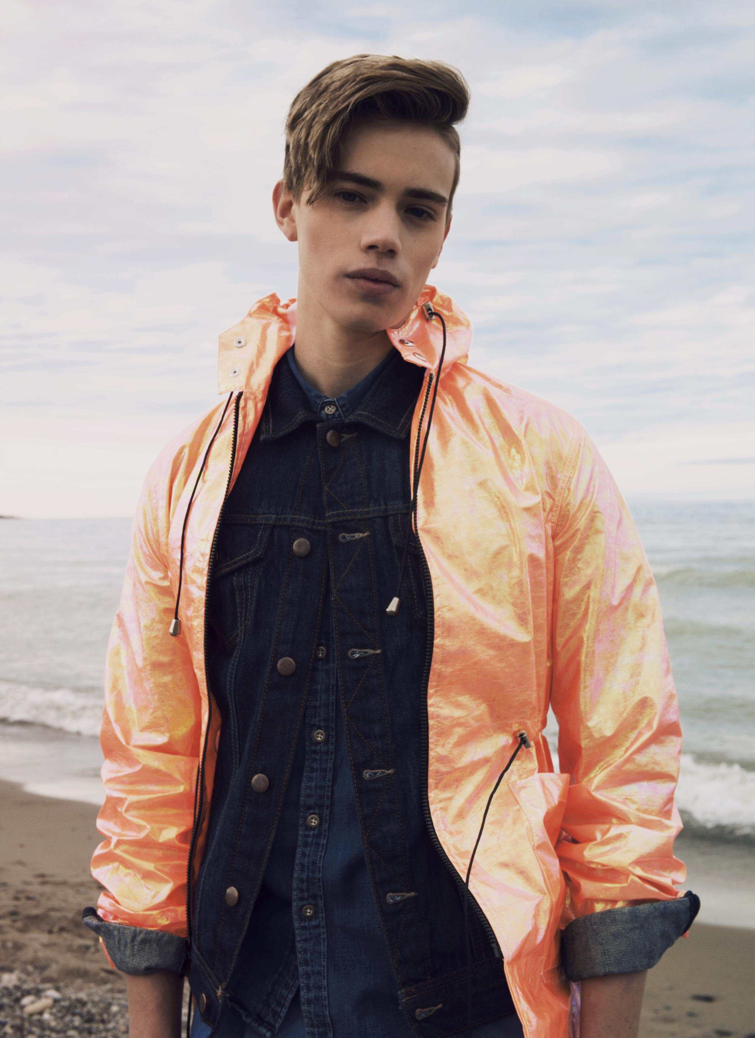 Jacket and trousers ANDREW COIMBRA, denim jacket RAG & BONE, denim shirt DIESEL