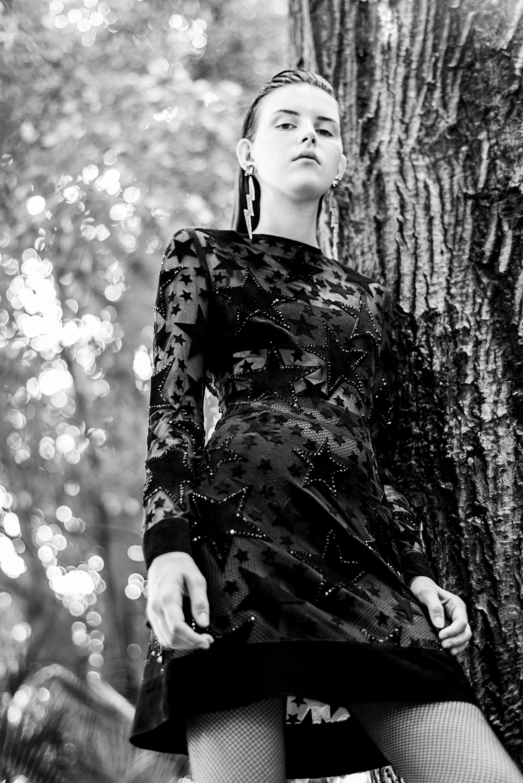 Vestido – Patricia Vieira  Brincos – Nádia Gimenes