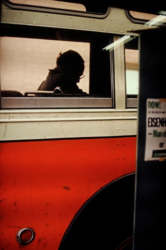 bus, new york, 1954 • saul leiter