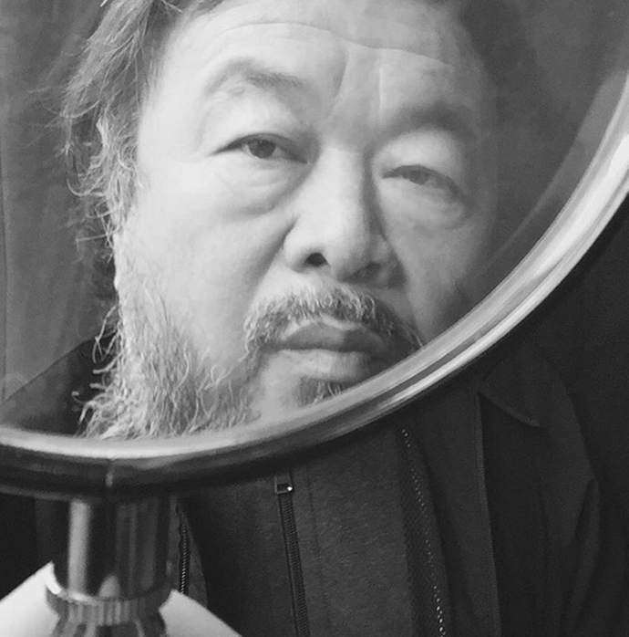 Ai Weiwei selfie from his Instagram page.