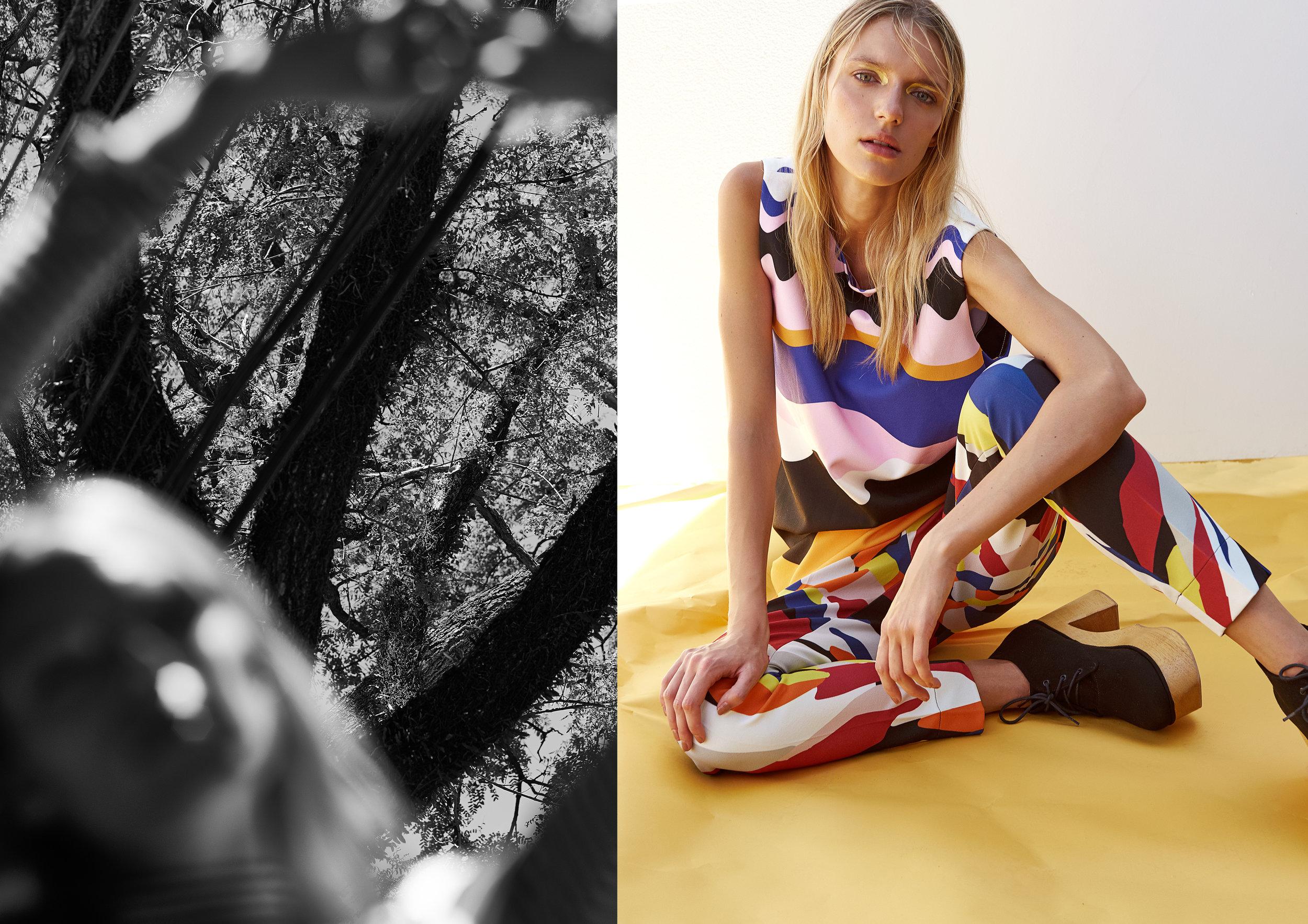 top Tigress calça Fatima Scotfield shoes Experimento Nohda