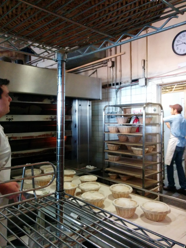 Sourdough in the making at the internationally renowned Tartine bakery. Not a place for me.