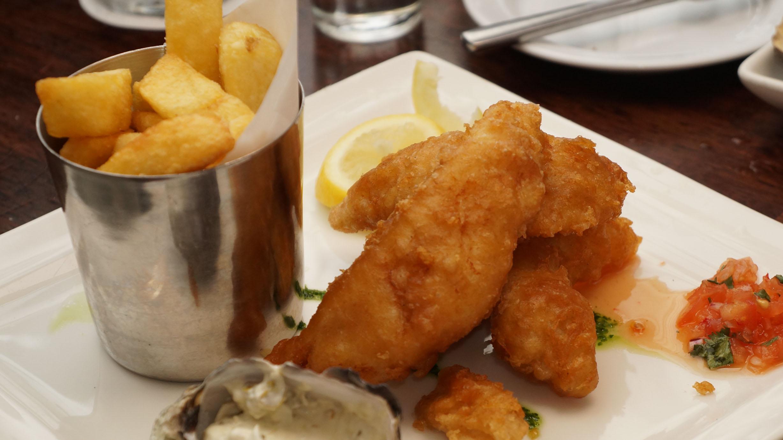 Fish and Chips at Fishy Fishy