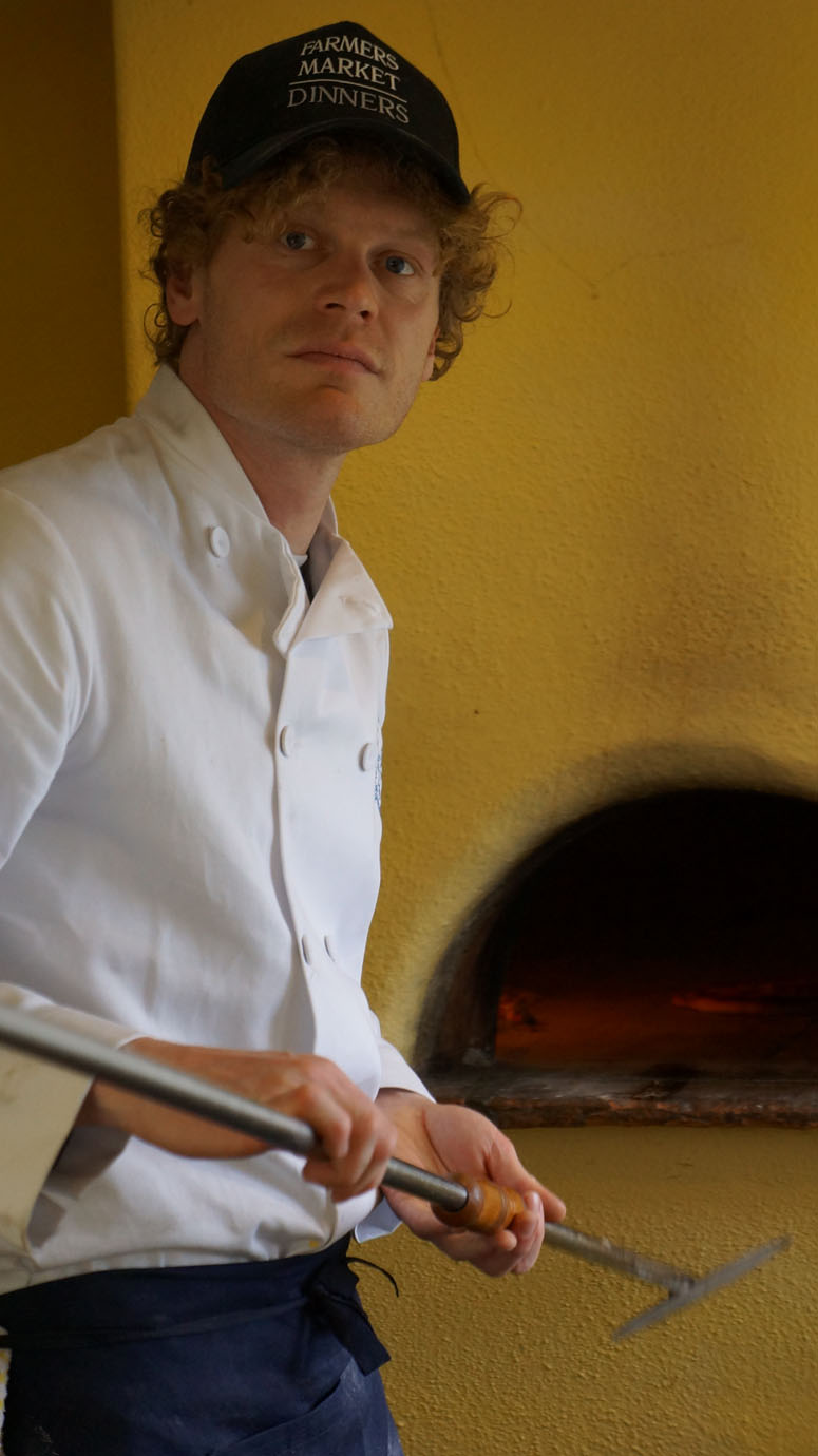 Philip doing the pizzas.