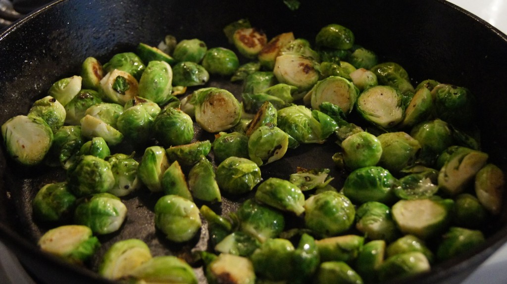 Caramelized sprouts.