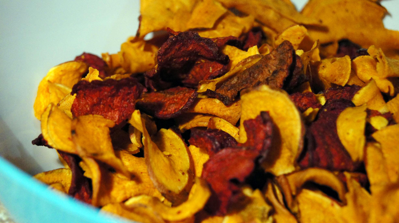 Beet & Sweet Potato Chips - store bought