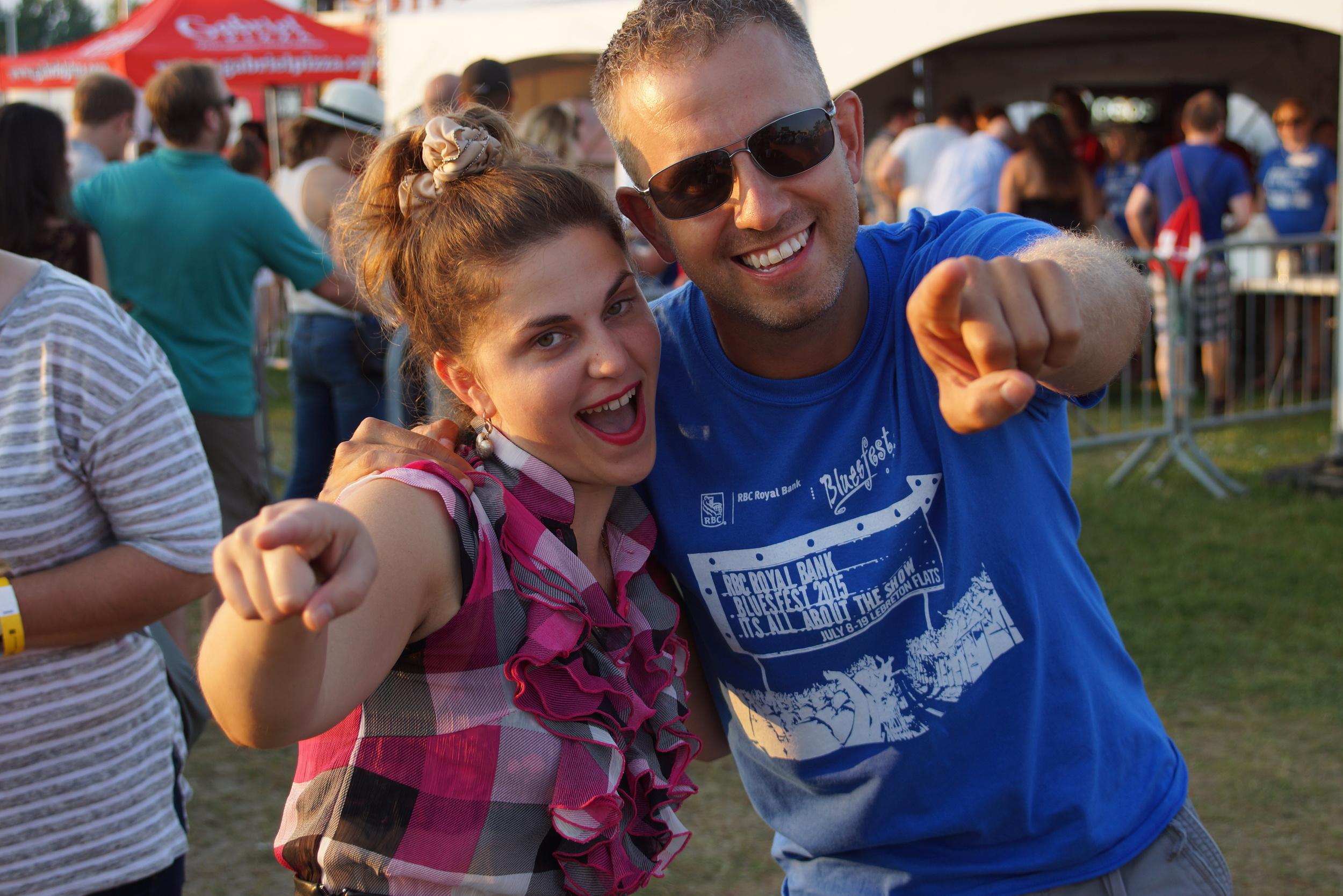 Best part of Bluesfest - Running into friends!