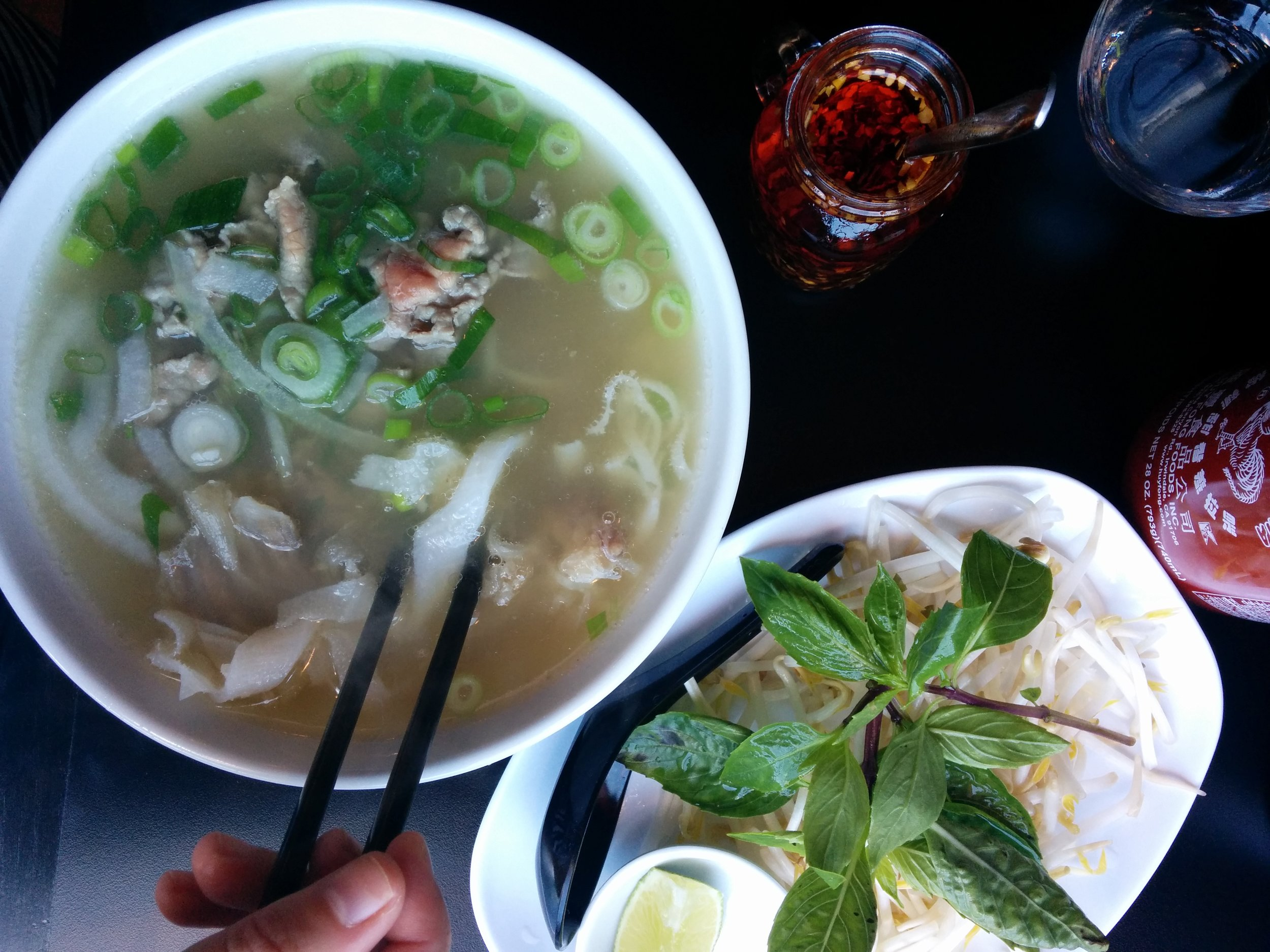 I wonder how phó will taste like without noodles. I'll ask to sub in extra vegetables.