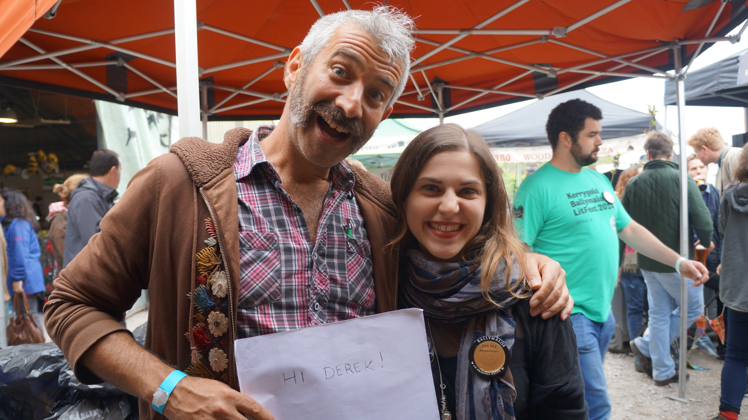 Sandor and I at Ballymaloe LitFest in 2014. Read more about my LitFest writing experience  here .