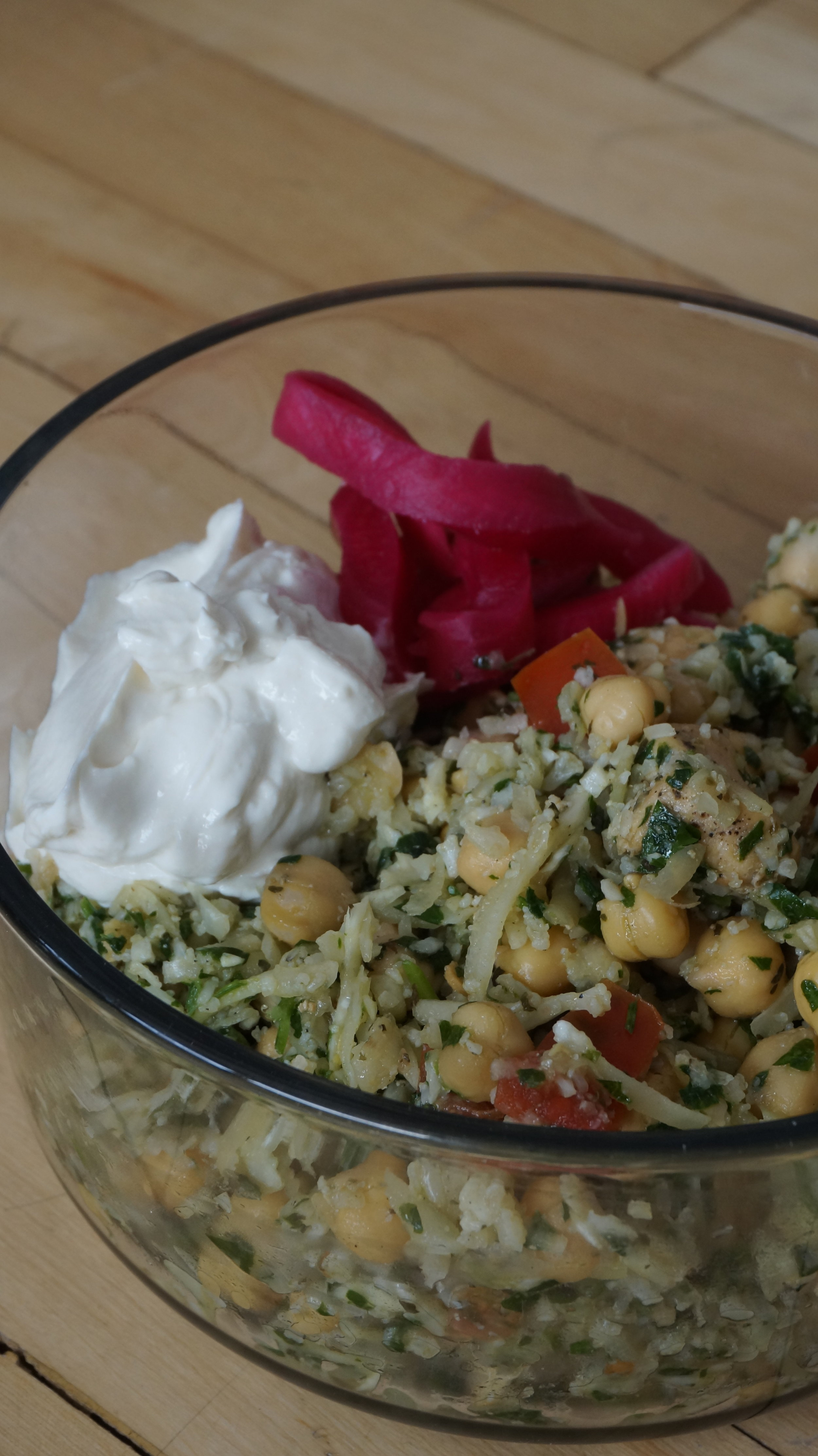 Cauliflower Tabbouleh on my Spring Menu! Comes with a delicious tahini greek yoghurt. Find out more  here .