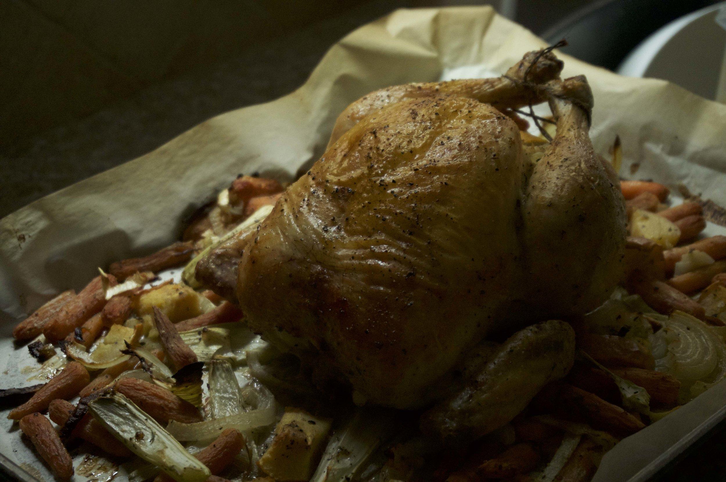 Ina Garten's roast chicken recipe. Infamous.