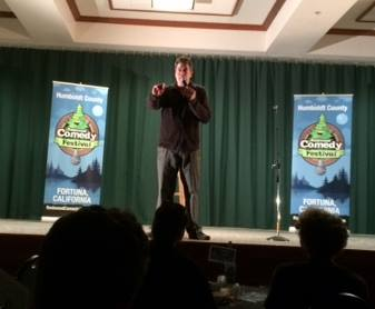 MCing during Redwood Comedy Fest 7-hour comedy marathon