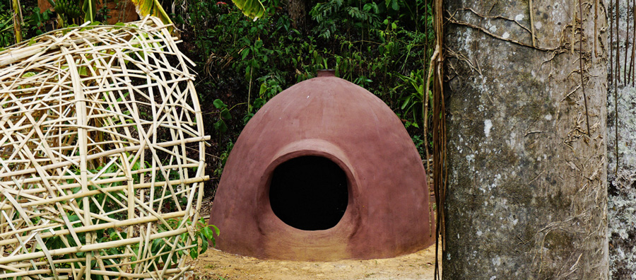 cúpula pequena com emplastro de  calficite