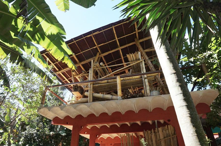 cascajes, armazenamento de bambu