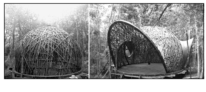 Some of Jaime Peña's bamboo structures will guide our next project in March 2019.