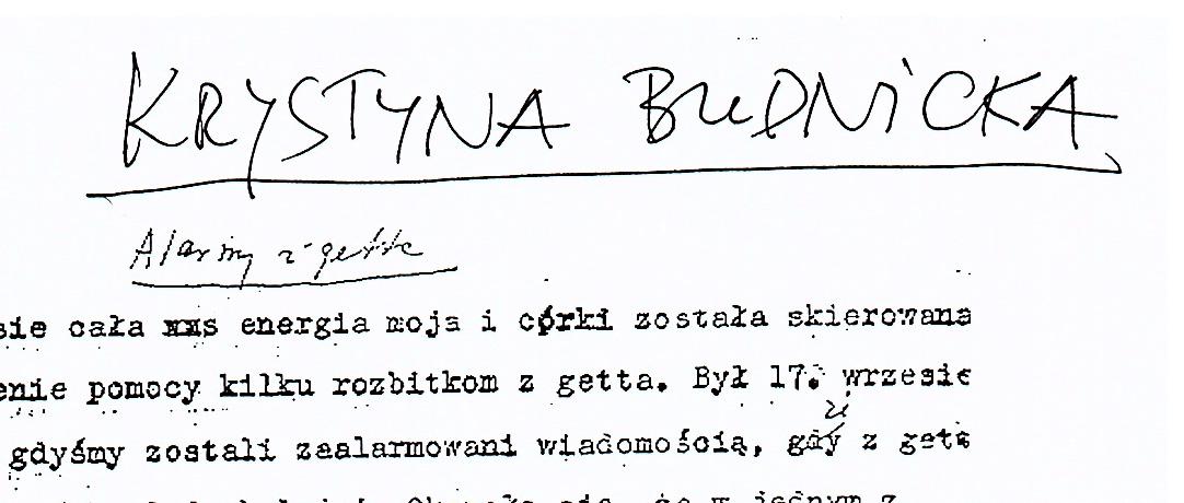 Krystyna Budnicka testimony in Polish