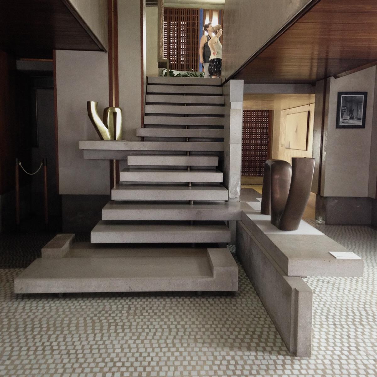 Grand staircase. Olivetti showroom. Piazza san Marko. Venezia. ( Scarpa 1958)