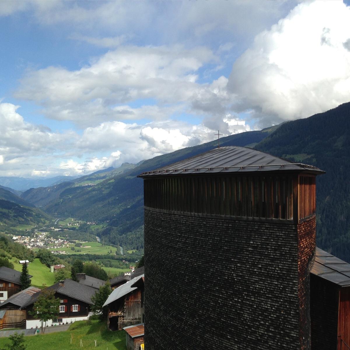 St. Benedict Chapel. Sumvitg Switzerland. ( Zumthor 1989)