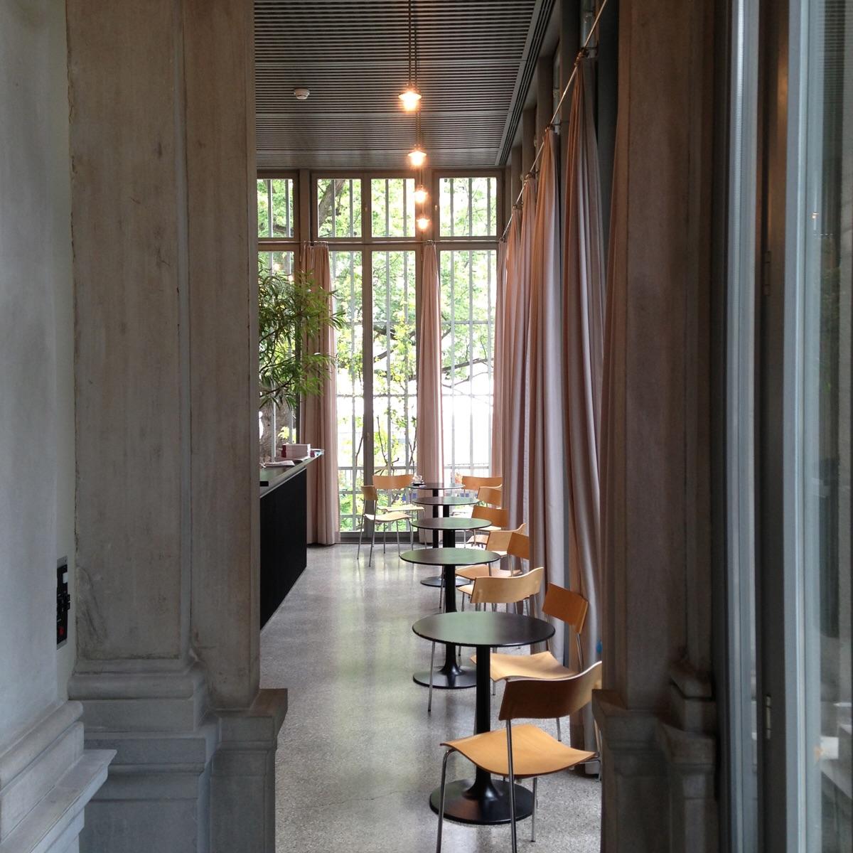 Cafe at the Chur Art museum. Chur Switzerland. (Zumthor 1990)