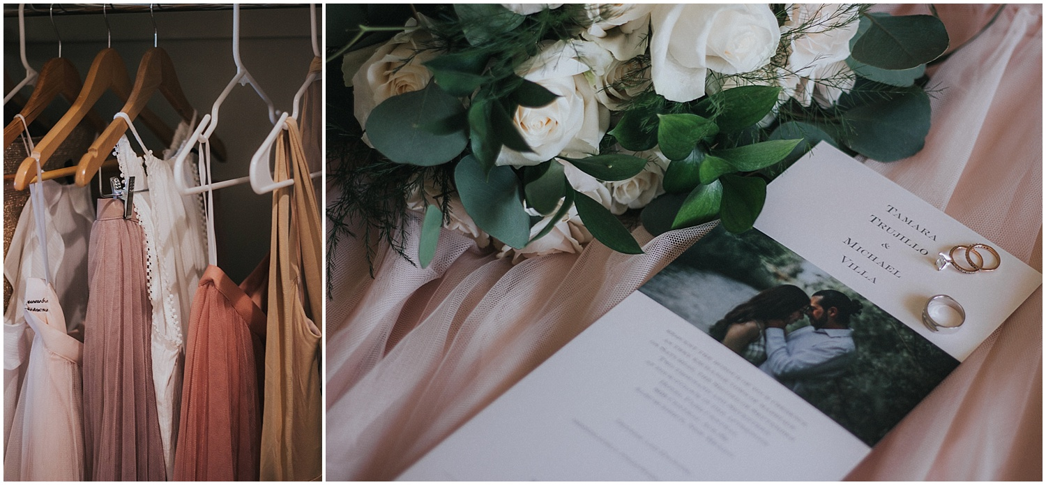 The Villa wedding was filled to the brim with incredible DIY amazingness at the ever so romantic Hotel Parq Central in Albuquerque, New Mexico. Tammy chose a blush palette that included mauve and taupe. She is obsessed with those colors so it wasn't hard for her to choose. Some of her favorite wedding details were the bouquets and boutonnières.