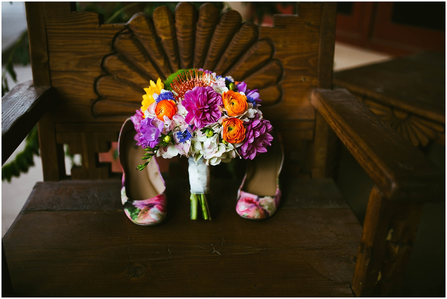 Wedding Shoes Inspiration by Jasper K Photography | Ryan proposed to Mallory at the Studio Ghibli Museum in Mitaka, Japan so it was fitting that their beautiful wedding day at Nature Pointe weddings in Tijeras, New Mexico was like a Miyazaki film come to life. A lot of planning went into their wedding. The magic of Miyazaki's films is unlike any other so incorporating the magnificence of his imagination into Mallory + Ryan's wedding day was a must. The intricacy of their wedding details were absolutely AMAZING!