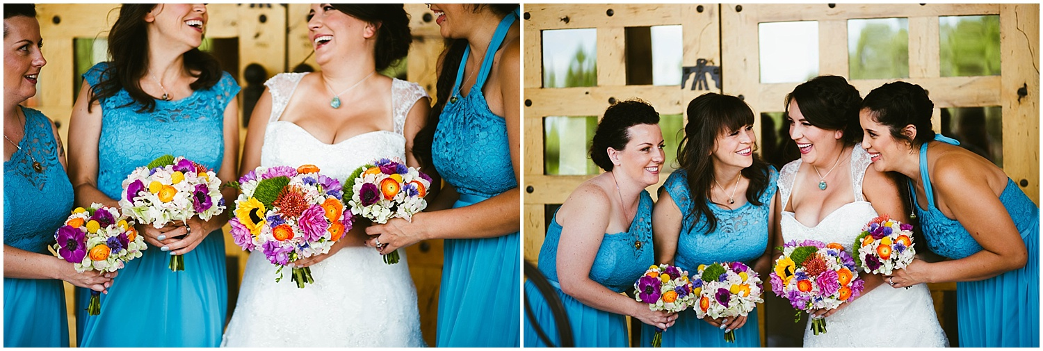 Bridesmaid Style photos by Jasper K Photography | Ryan proposed to Mallory at the Studio Ghibli Museum in Mitaka, Japan so it was fitting that their beautiful wedding day at Nature Pointe weddings in Tijeras, New Mexico was like a Miyazaki film come to life. A lot of planning went into their wedding. The magic of Miyazaki's films is unlike any other so incorporating the magnificence of his imagination into Mallory + Ryan's wedding day was a must. The intricacy of their wedding details were absolutely AMAZING!