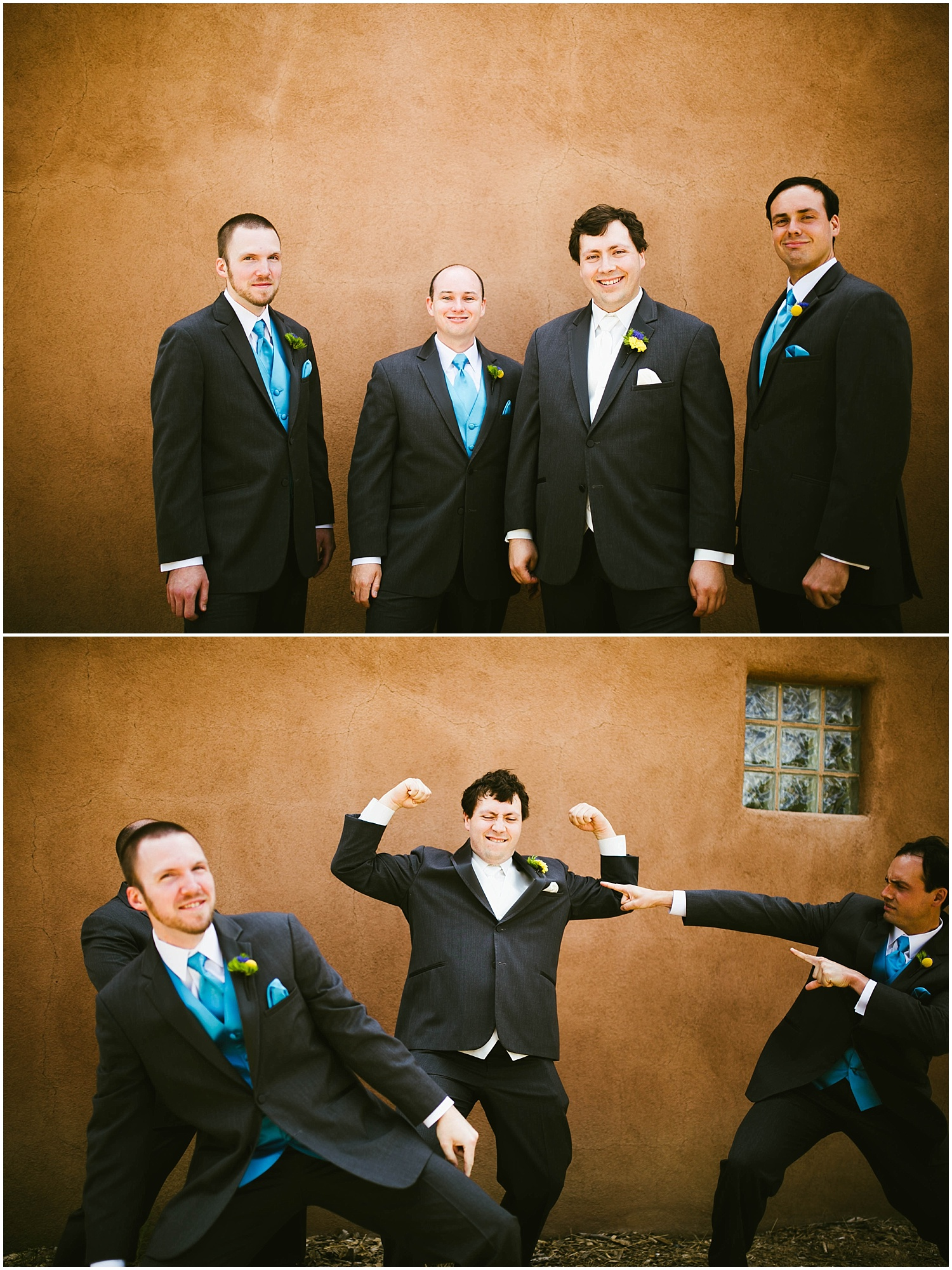 Groom Style + Groomsmen Style | Ryan proposed to Mallory at the Studio Ghibli Museum in Mitaka, Japan so it was fitting that their beautiful wedding day at Nature Pointe weddings in Tijeras, New Mexico was like a Miyazaki film come to life. A lot of planning went into their wedding. The magic of Miyazaki's films is unlike any other so incorporating the magnificence of his imagination into Mallory + Ryan's wedding day was a must. The intricacy of their wedding details were absolutely AMAZING!
