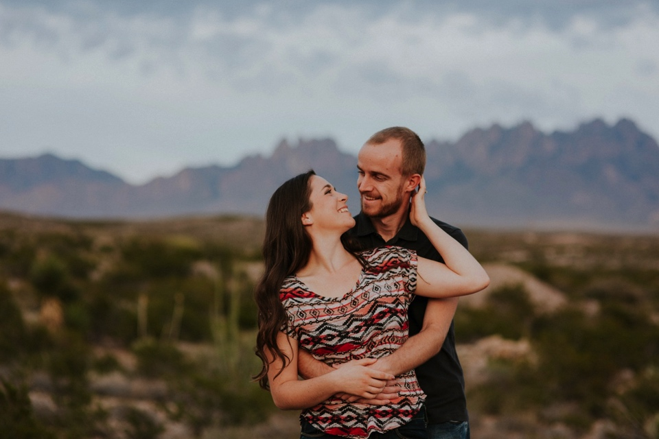 We then headed to the Organ Mountains in Las Cruces, NM to do a quick outfit change and capture the rest of their love fest. The sun set just in time to capture the beauty of the Organ Mountains and the love between Kari and Brandon.