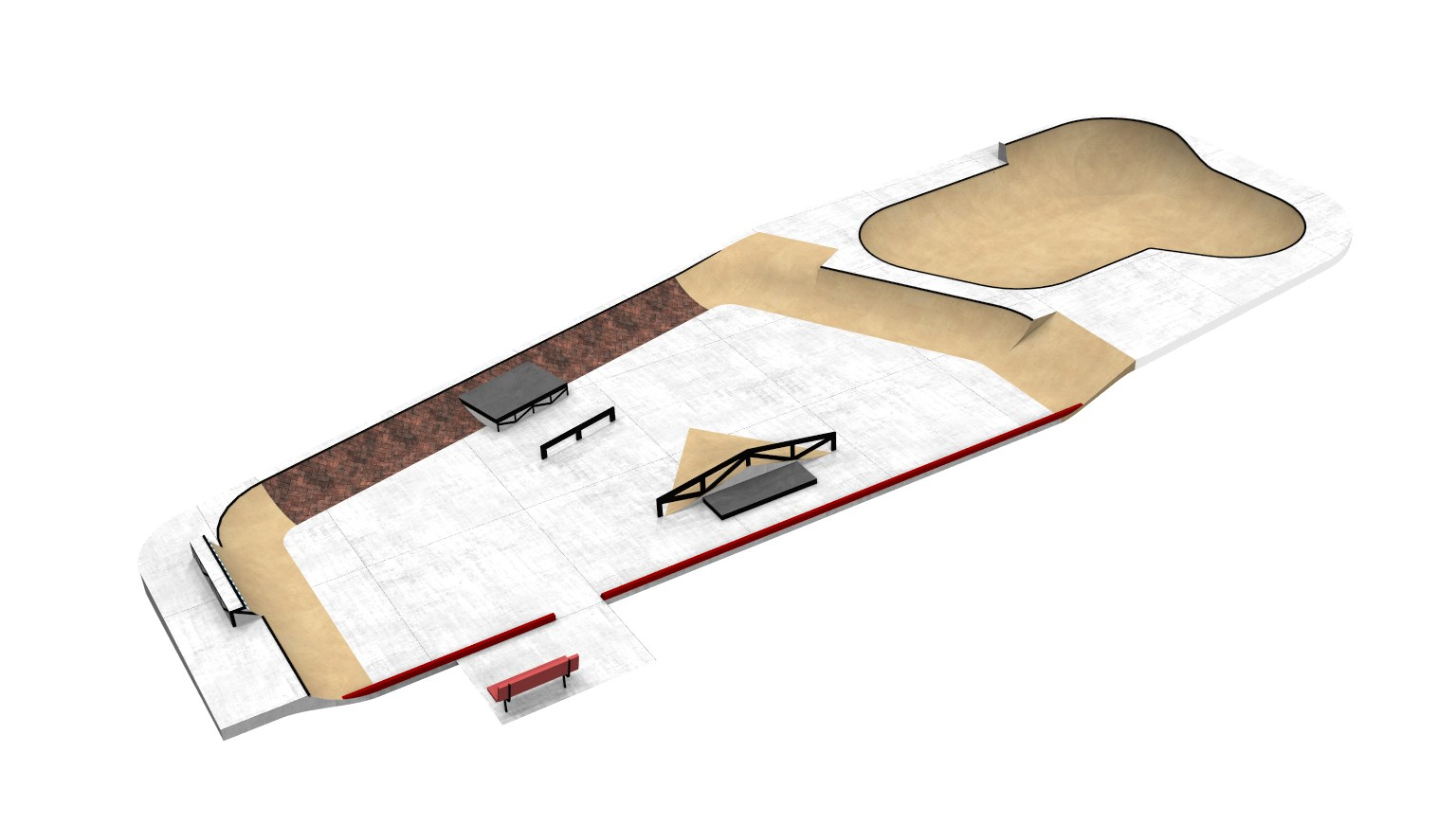 The skate park with added features if additional funding goals are reached!