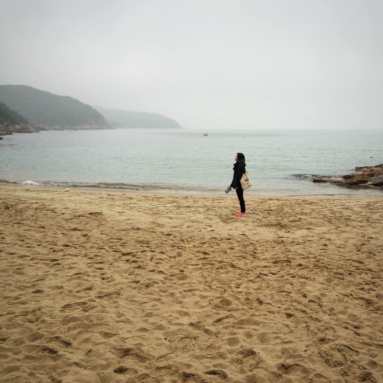 The beach in Lamma Island