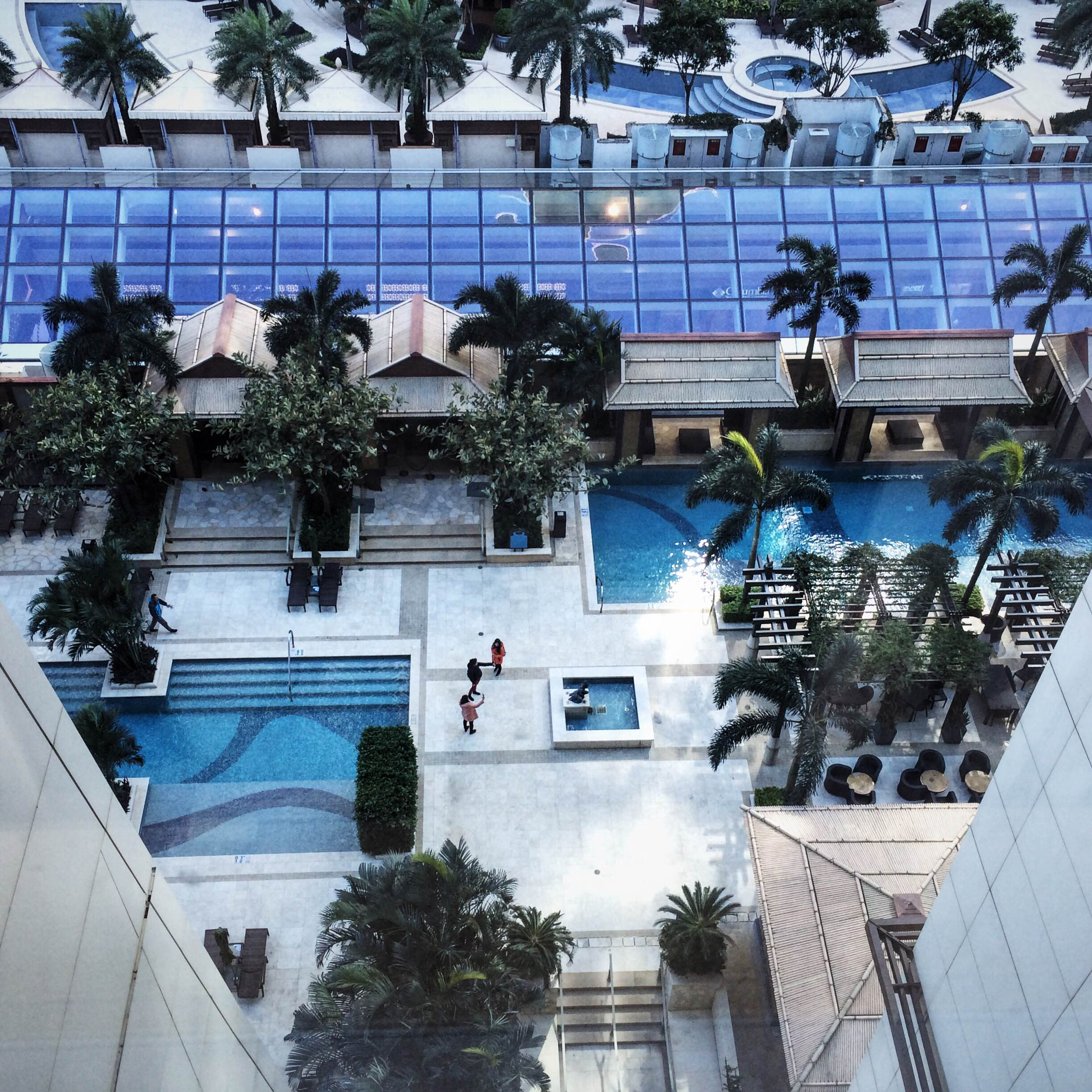 From the Sheraton Macau. My kingdom for this pool in sunny weather