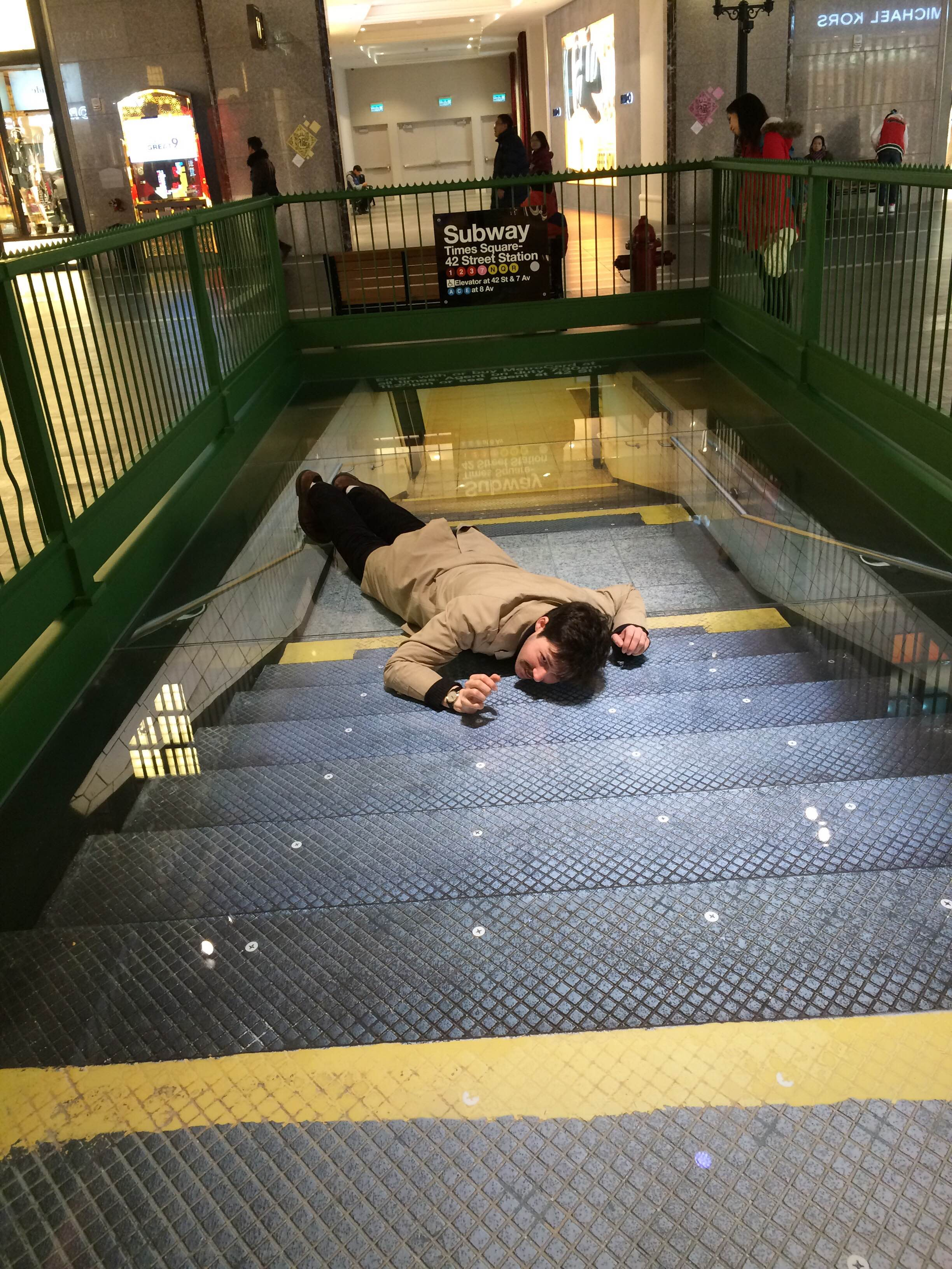 Adam crawling up the MTA in Studio City
