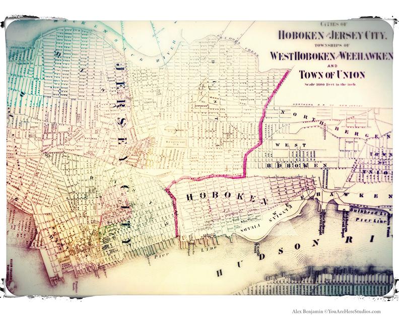 NJ Vintage Map