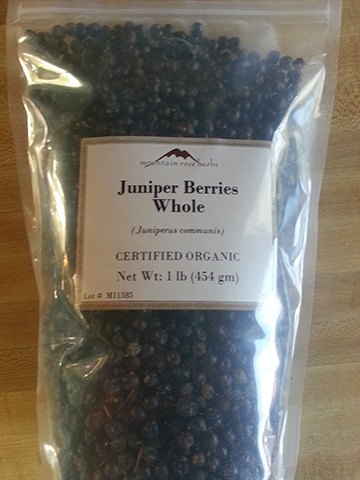 Juniper berries from  Mountain Rose Herbs