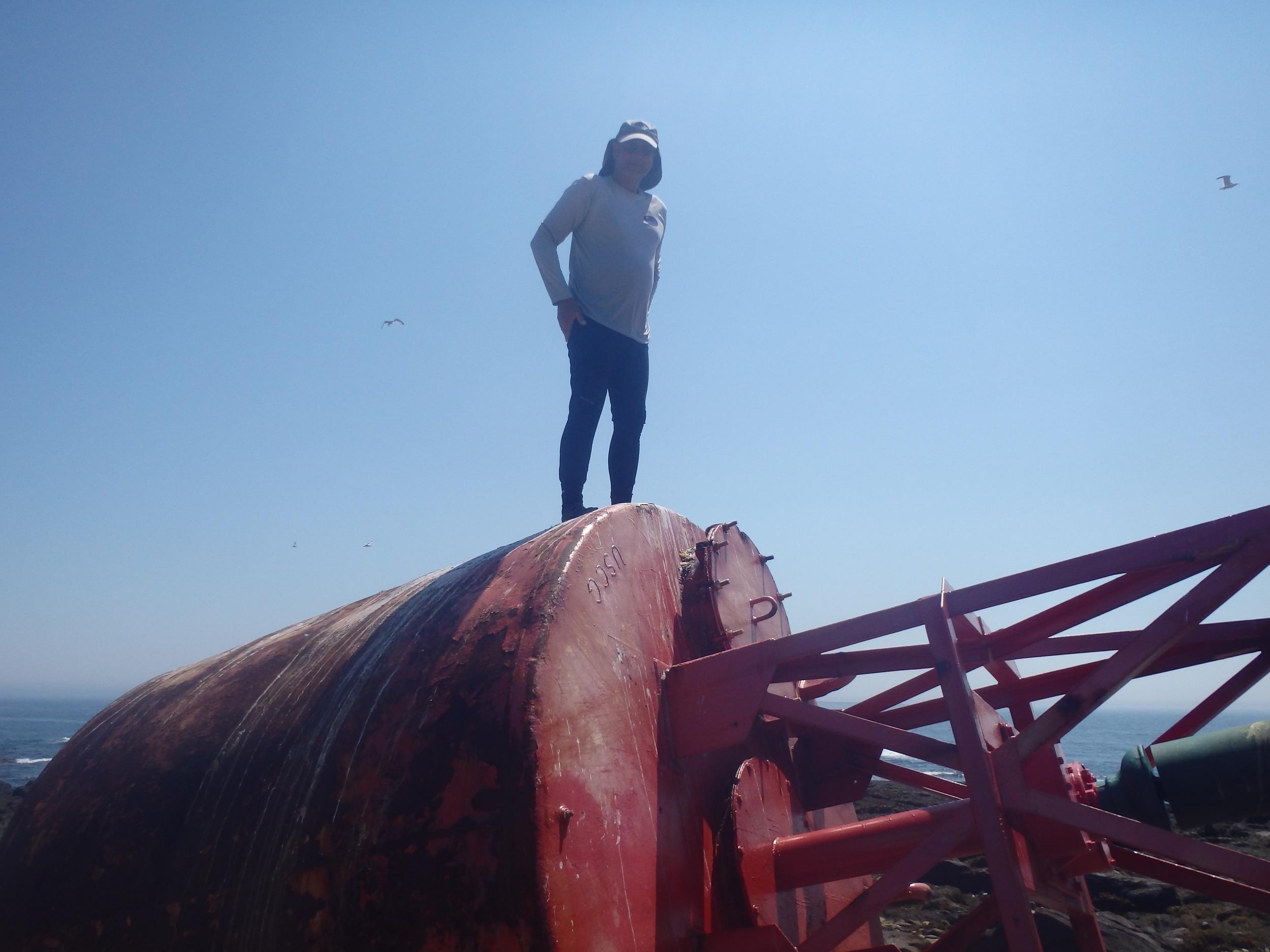 Josko on the buoy