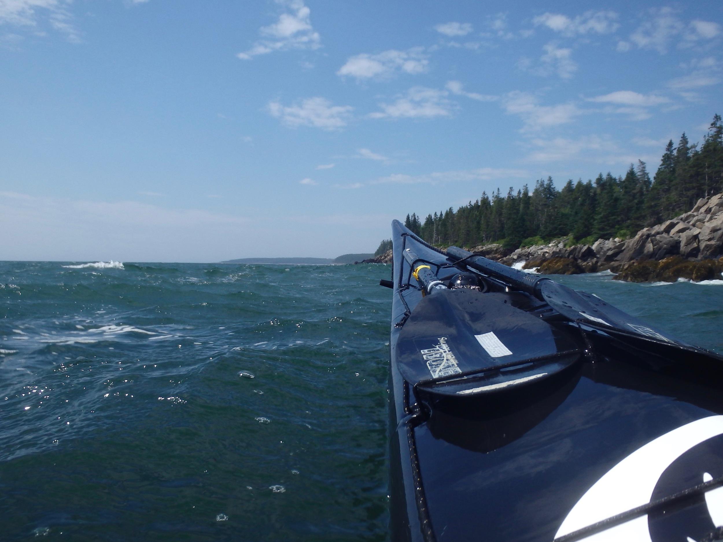 Moving along the coast