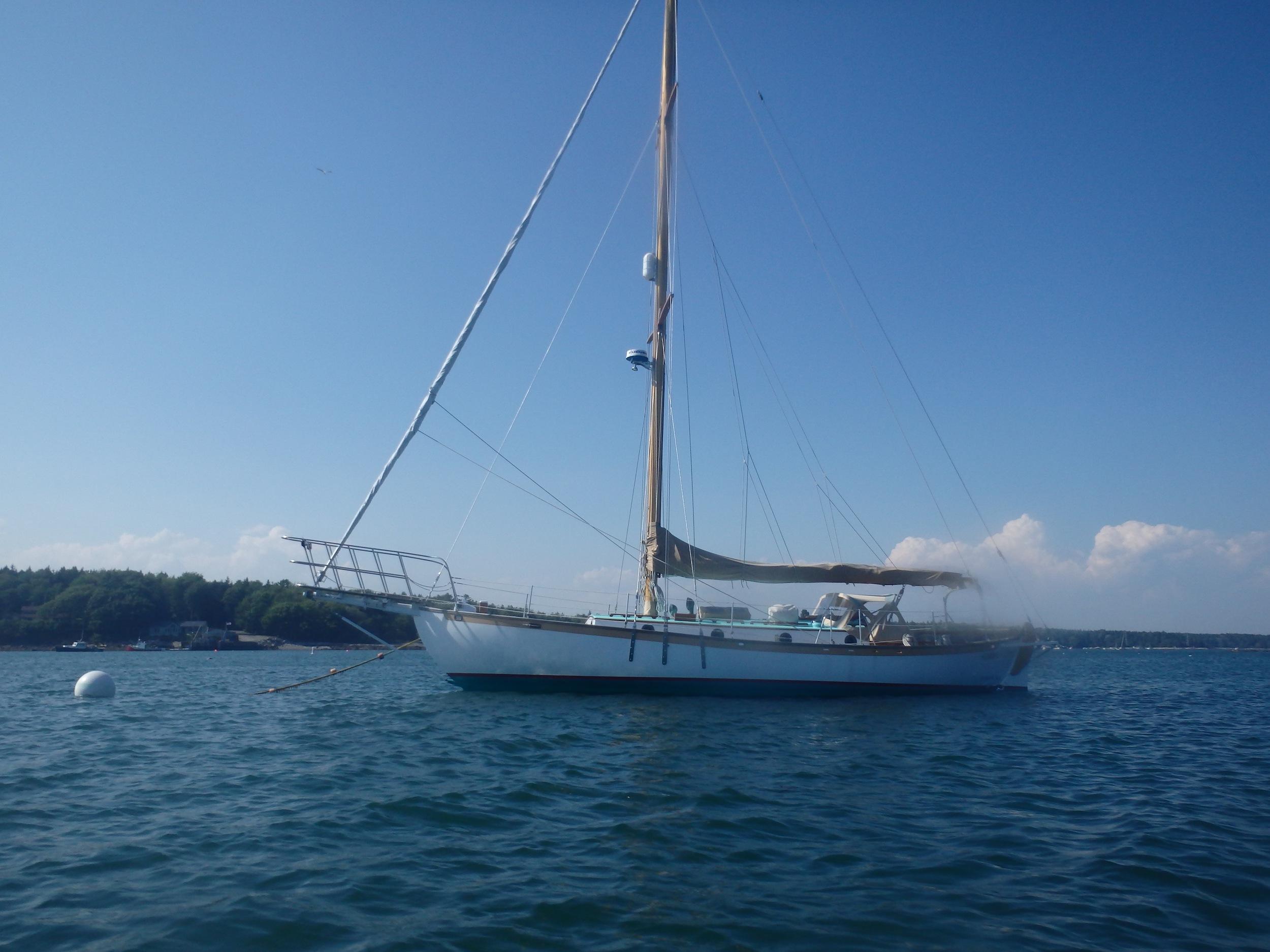 Sloop in Tenants Harbor, another view