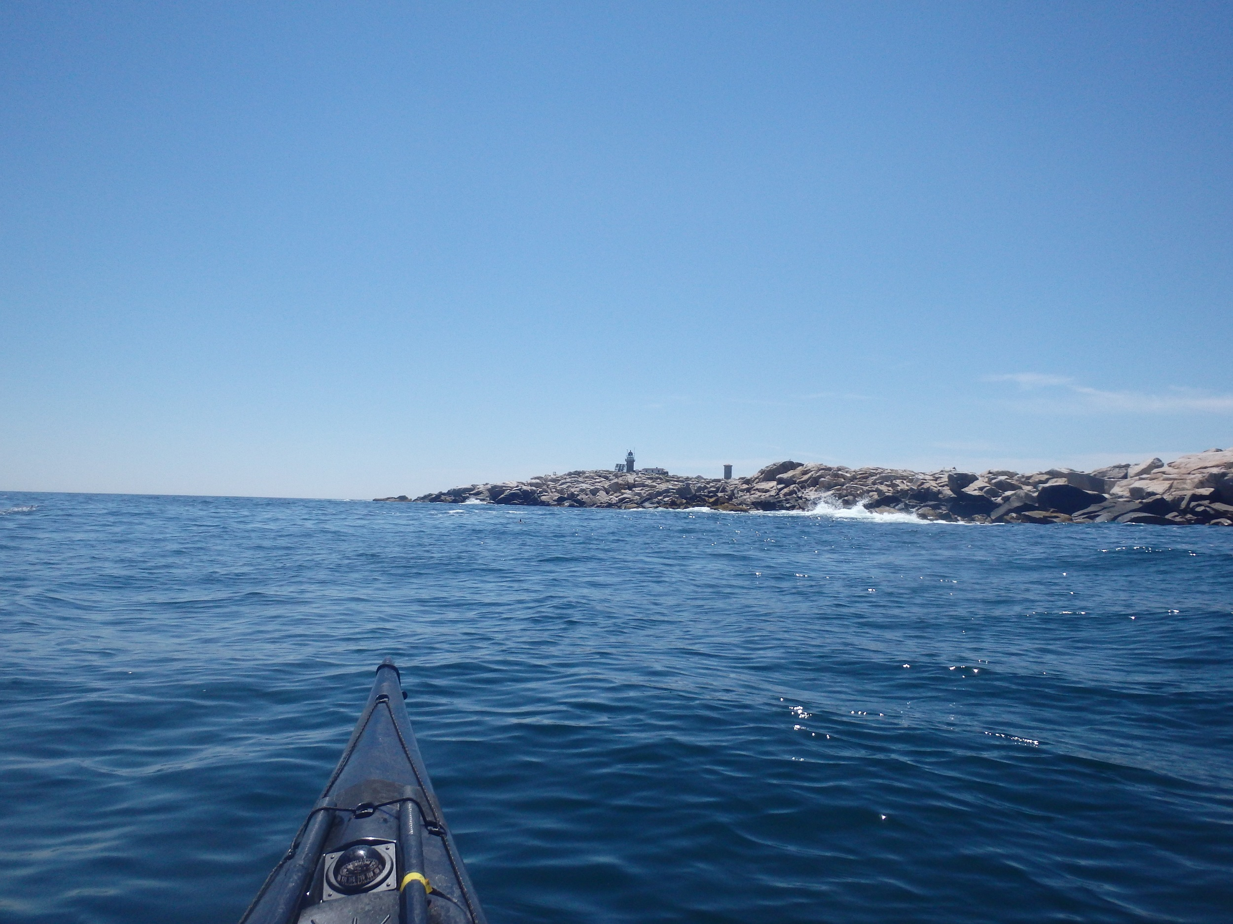 Headed down the western shore of the Rock