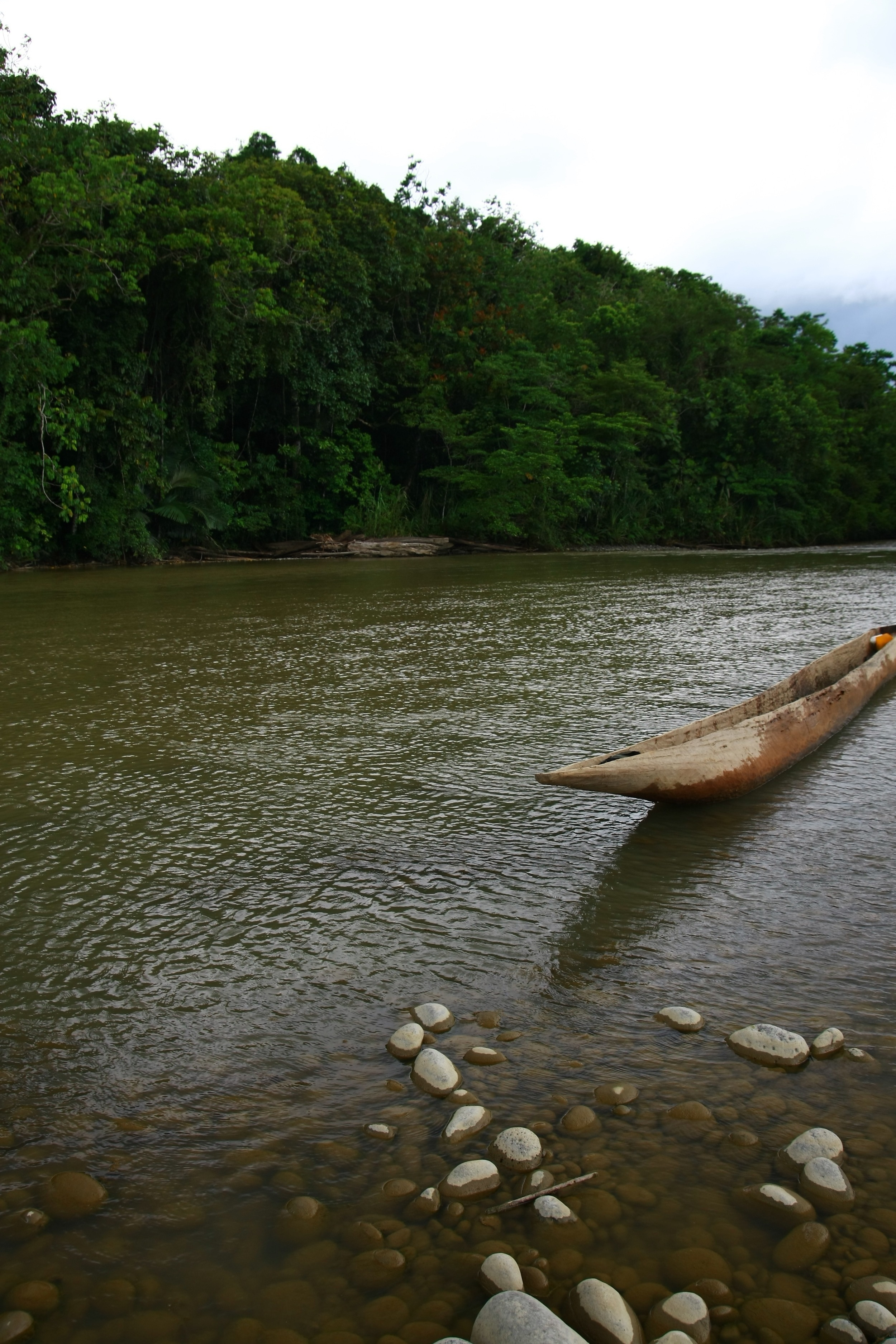 Dugout Canoe on Kikori River